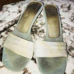 Authentic Prada gray sandals heels-39.5